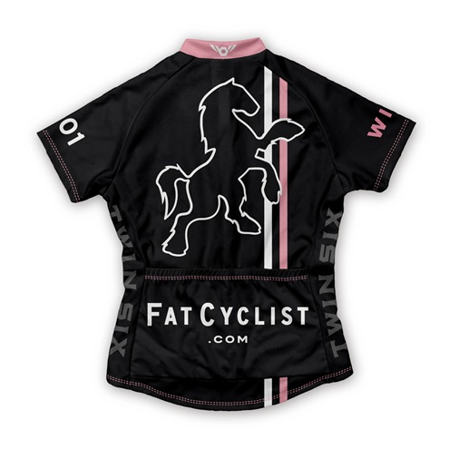 Fat Cyclist 2009 Jersey: Women's Back       