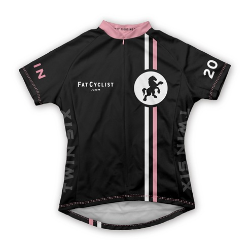 Fat Cyclist 2009 Jersey: Women's Front      